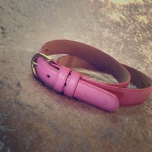 Pink COACH leather belt